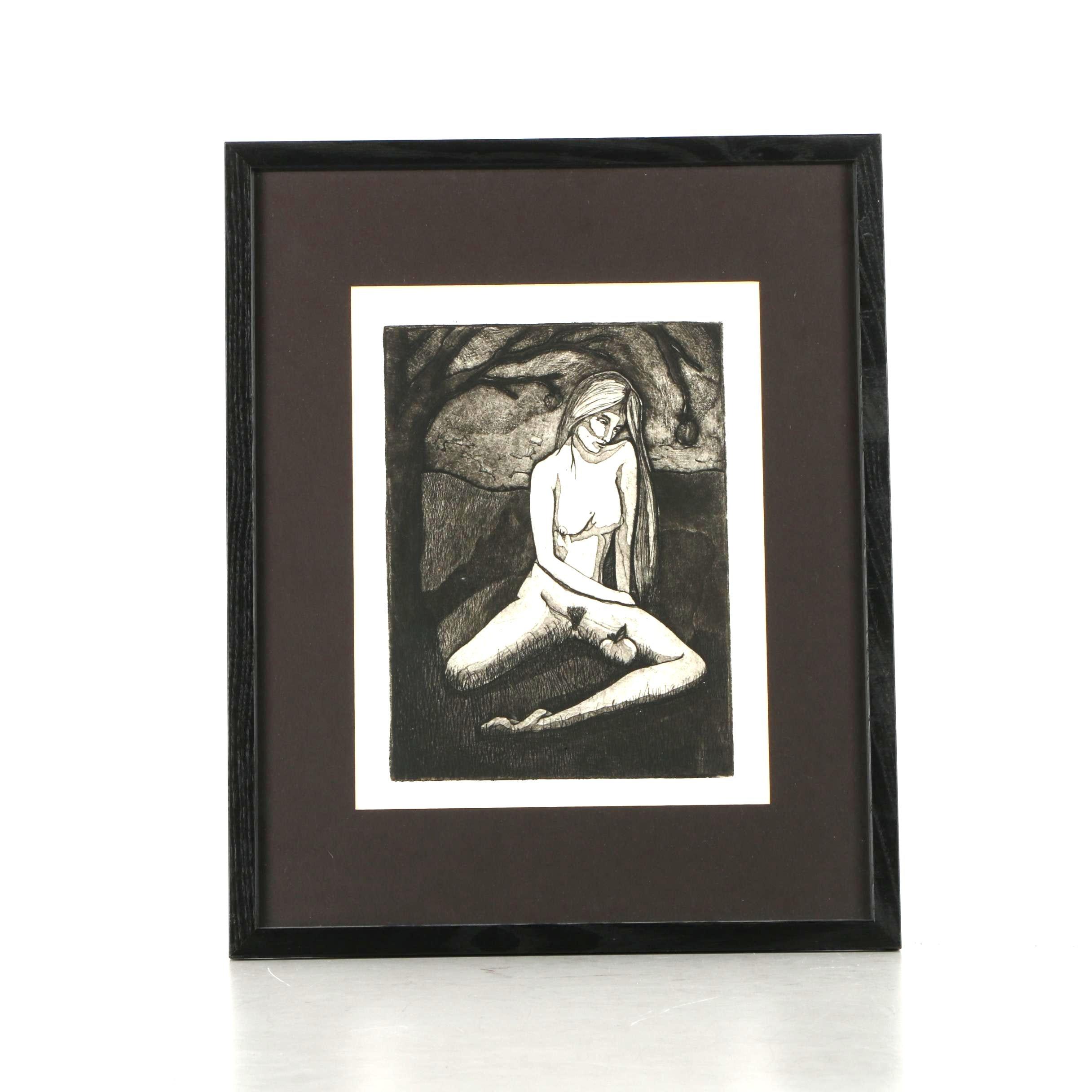 "Carolyn Bennett Limited Edition Aquatint on Paper ""Eve"""