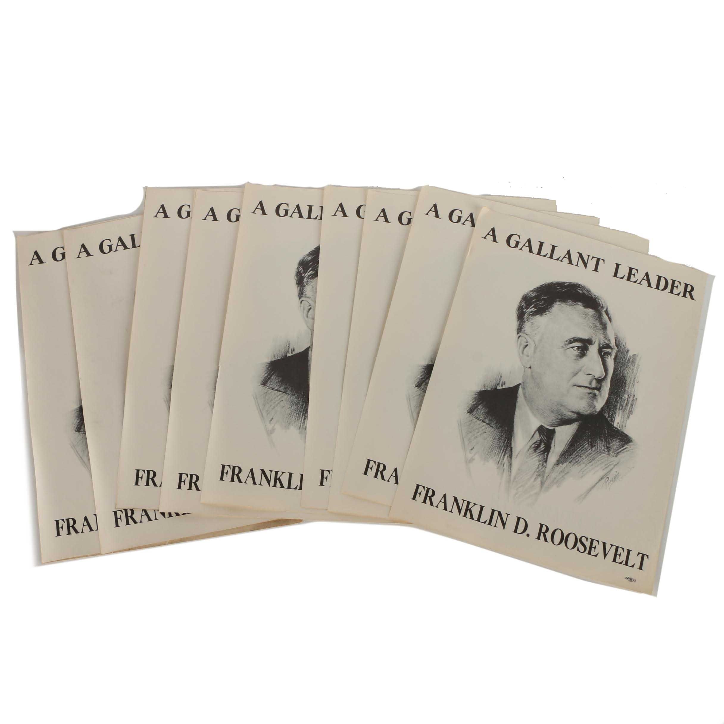 Collection of 1936 Franklin Delano Roosevelt Halftone Campaign Posters