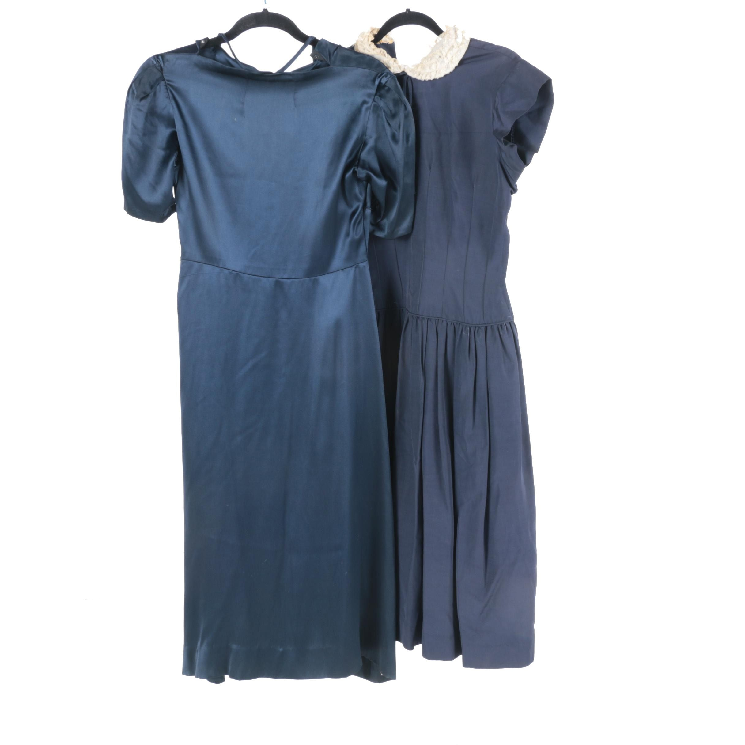 Pair of Navy Vintage Dresses