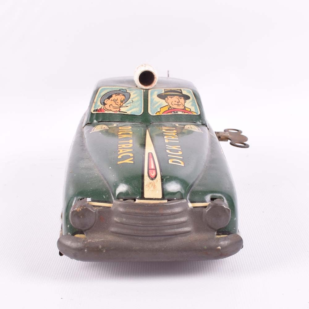 Marx Dick Tracy Wind-Up Squad Car : EBTH