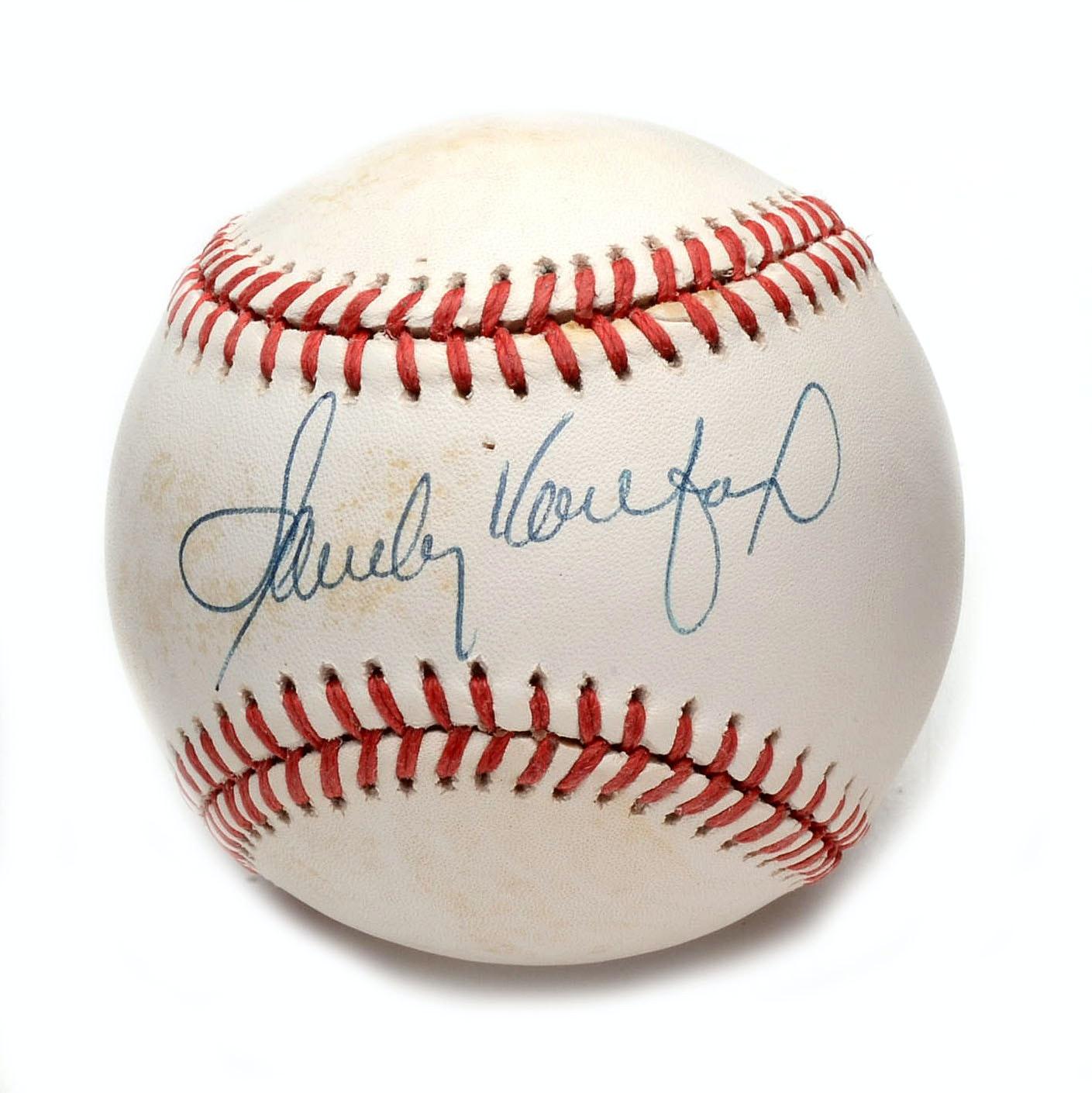 Sandy Koufax Signed Baseball  COA