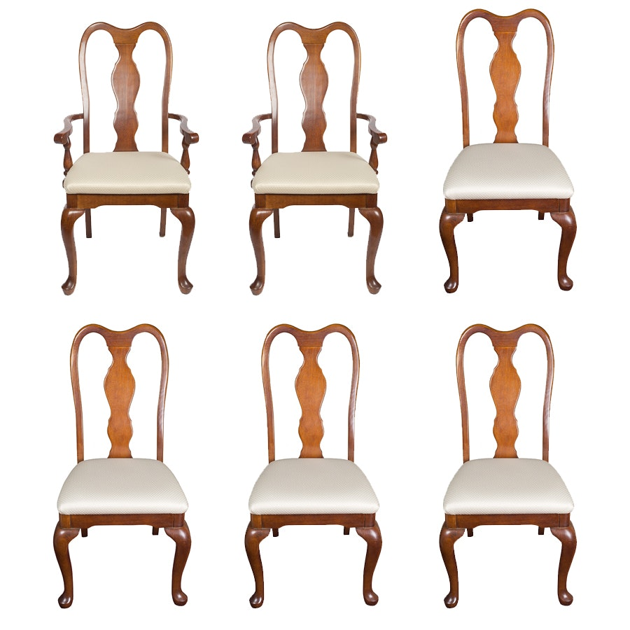 Set of Queen Anne Dining Chairs