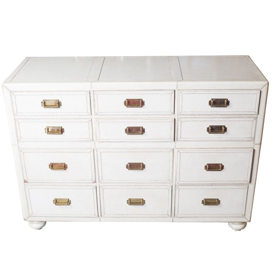 Leather Covered Chest of Drawers by Lineage Home Furnishings