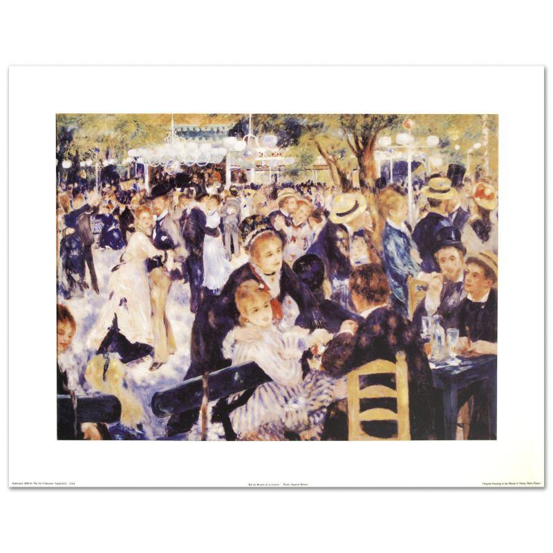 """Fine Art Print after Renoir """"Bal du Moulin de la Galette"""""""