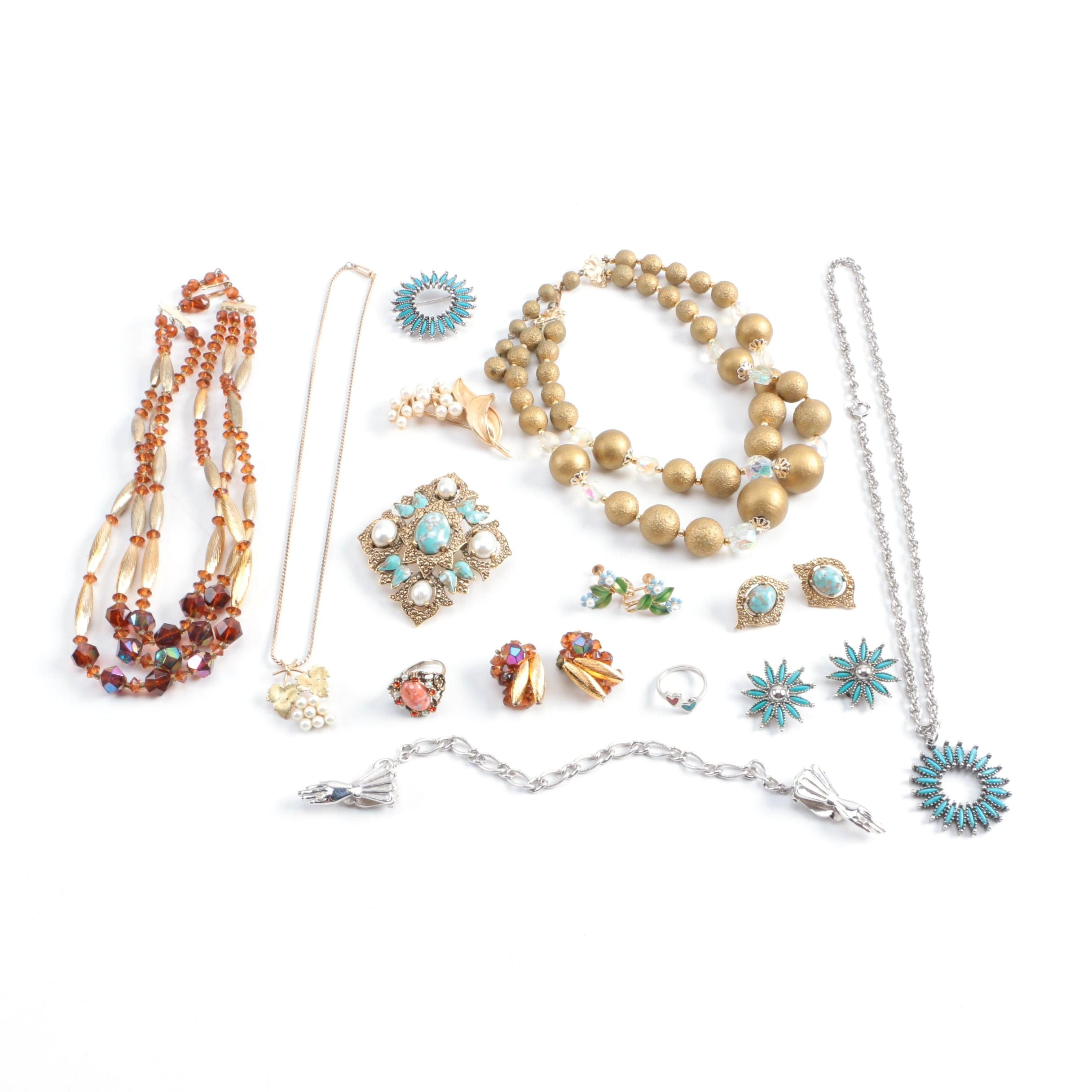 Vintage Jewelry Including Trifari and Sarah Coventry