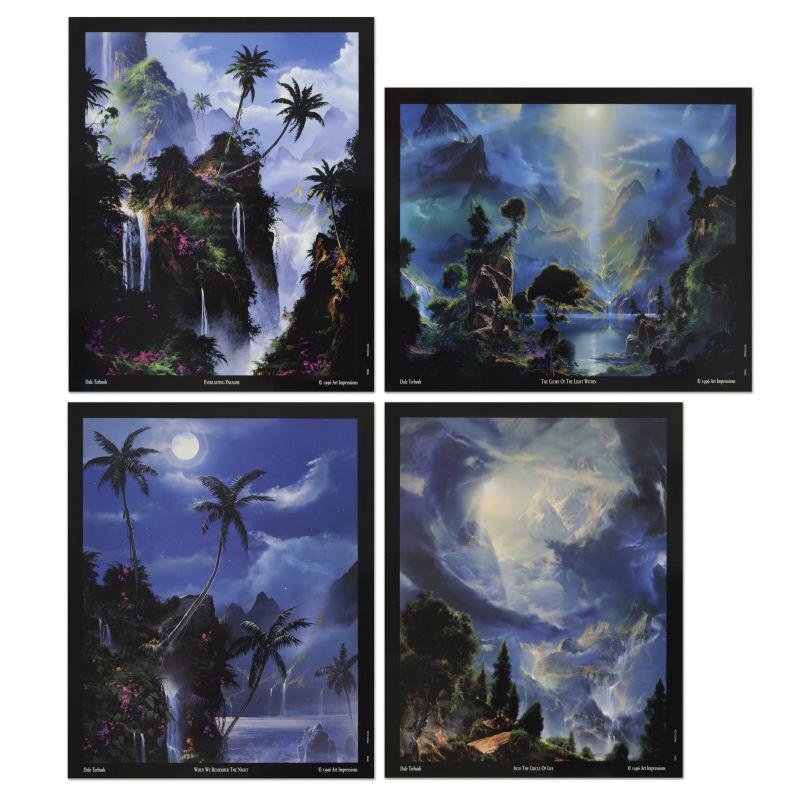 Set of Four Mini Prints by Dale Terbush