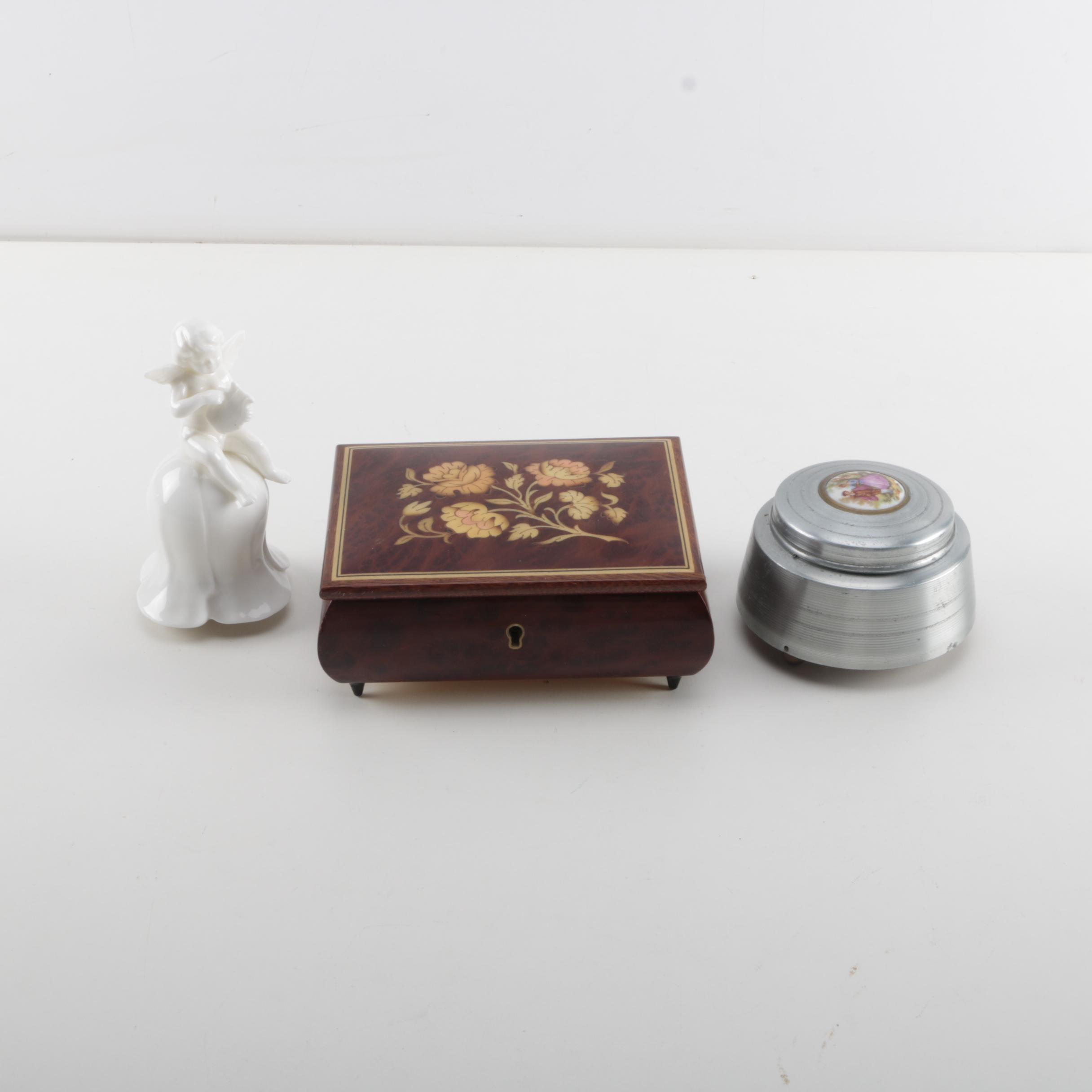 Selection of Vintage Music Boxes