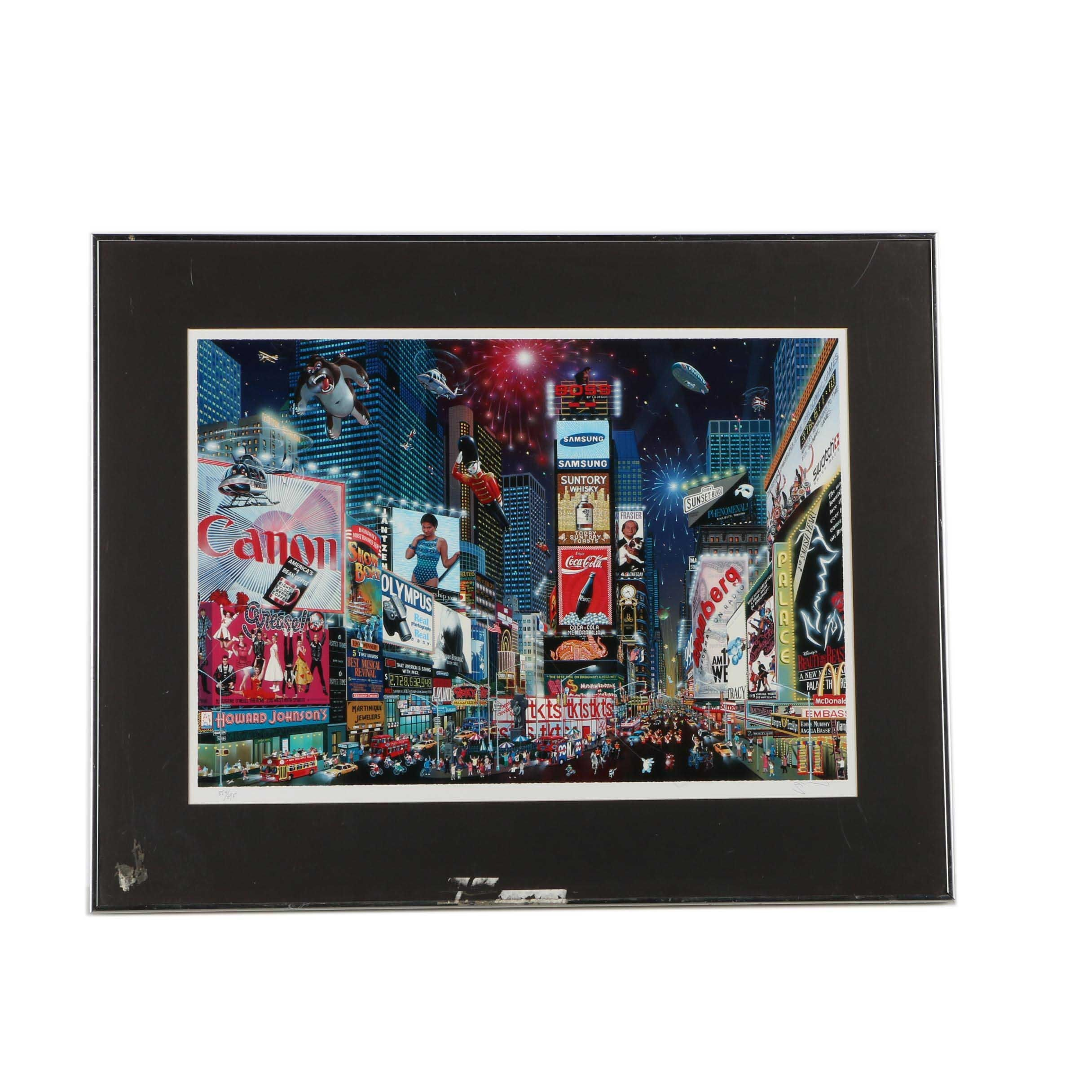 "After Alexander Chen Limited Edition Giclee ""Times Square Parade"""