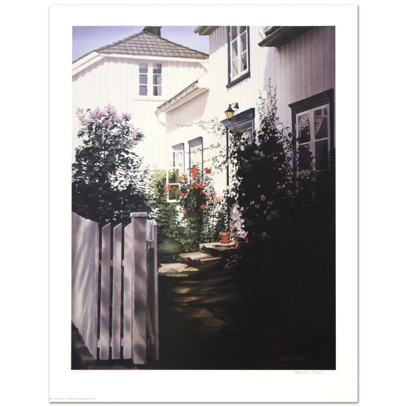 "Barbara Buer Limited Edition Lithograph ""Garden Gate"""
