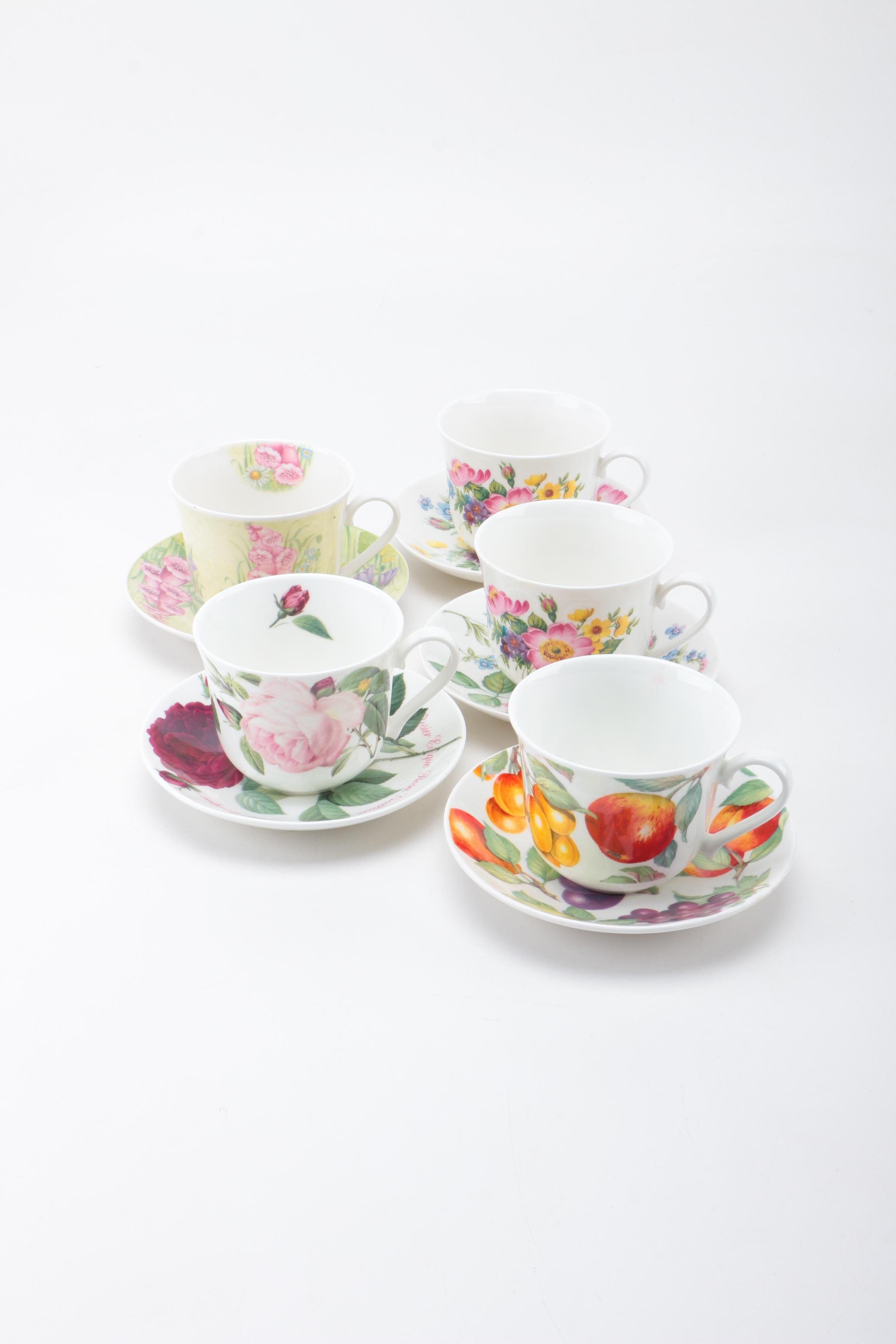 Elegance and Roy Kirkham China Teacups and Saucers
