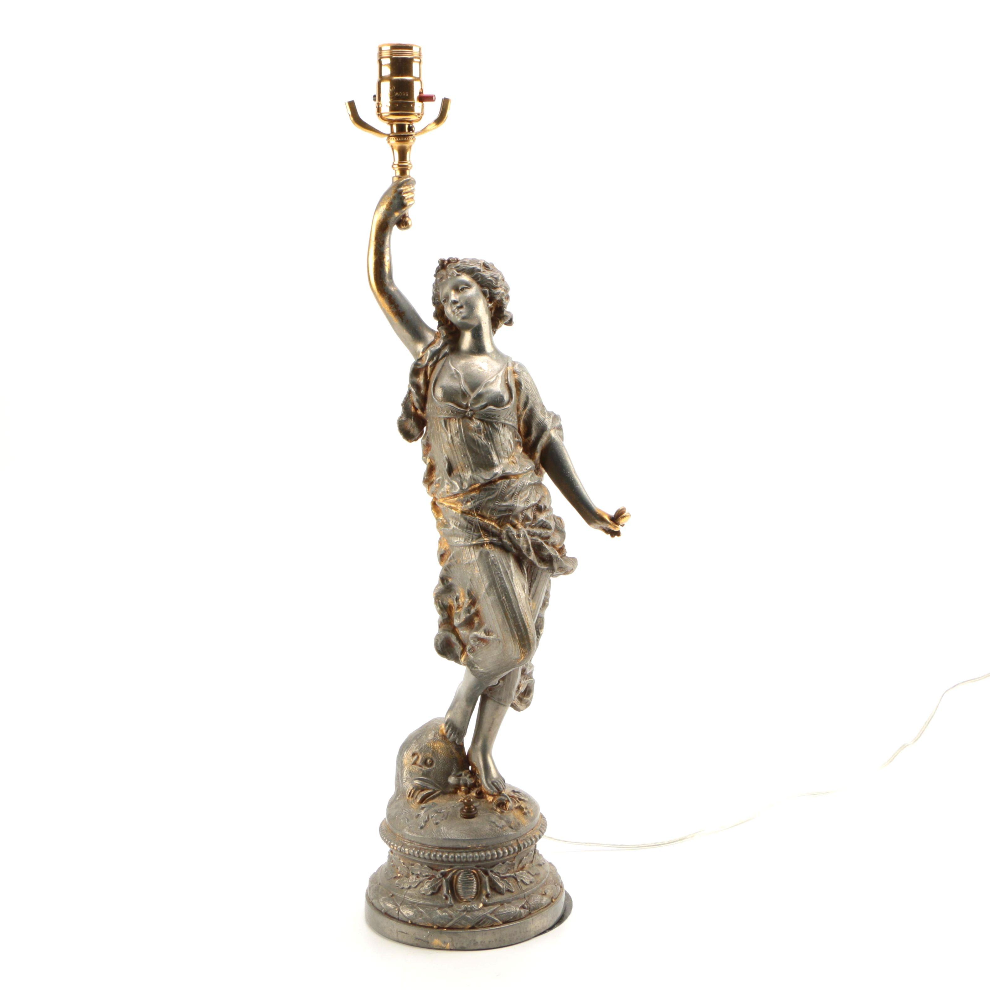 Female Figural Lamp