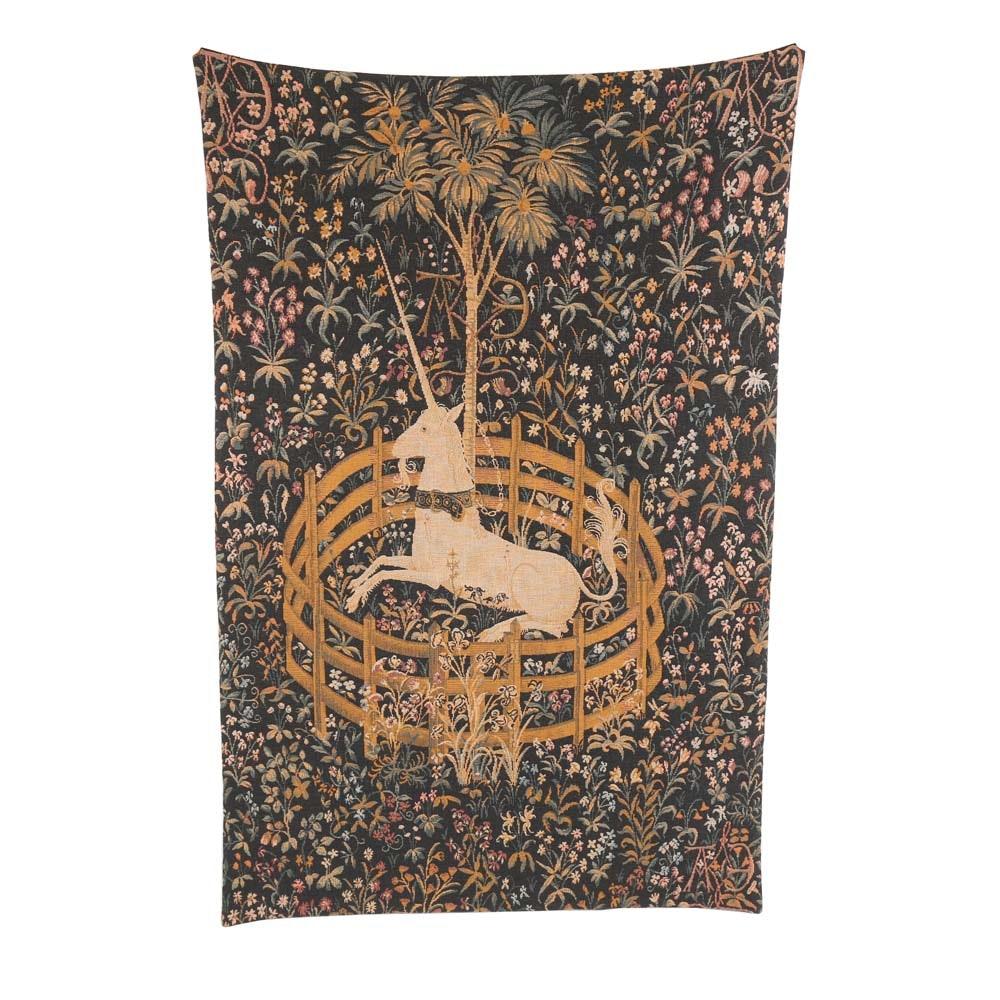 """Unicorn In Captivity"" Handmade Reproduction Tapestry"