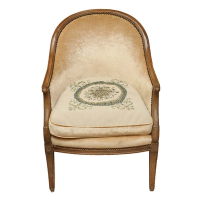 Upholstered Tub Chair with Needlepoint Seat