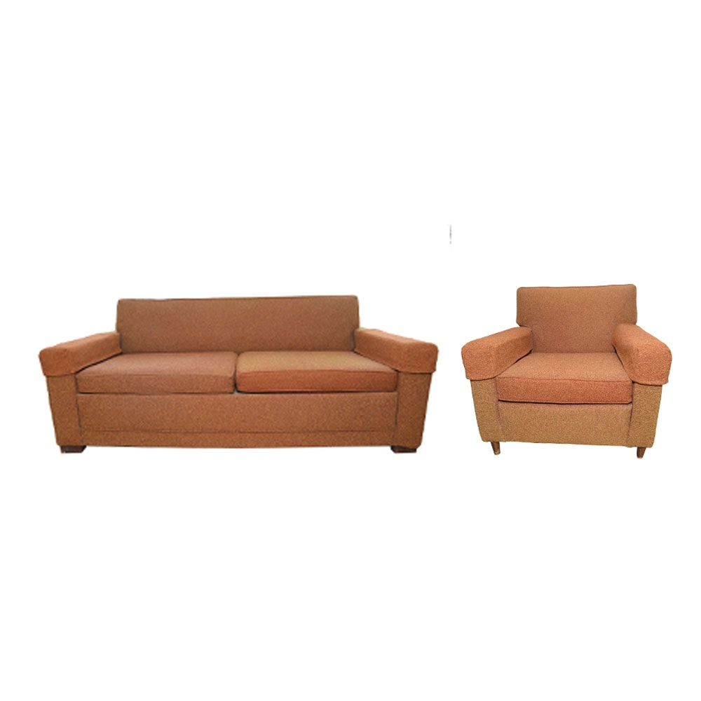 Mid Century Modern Sleeper Sofa And Chair By Castro Convertibles Ebth