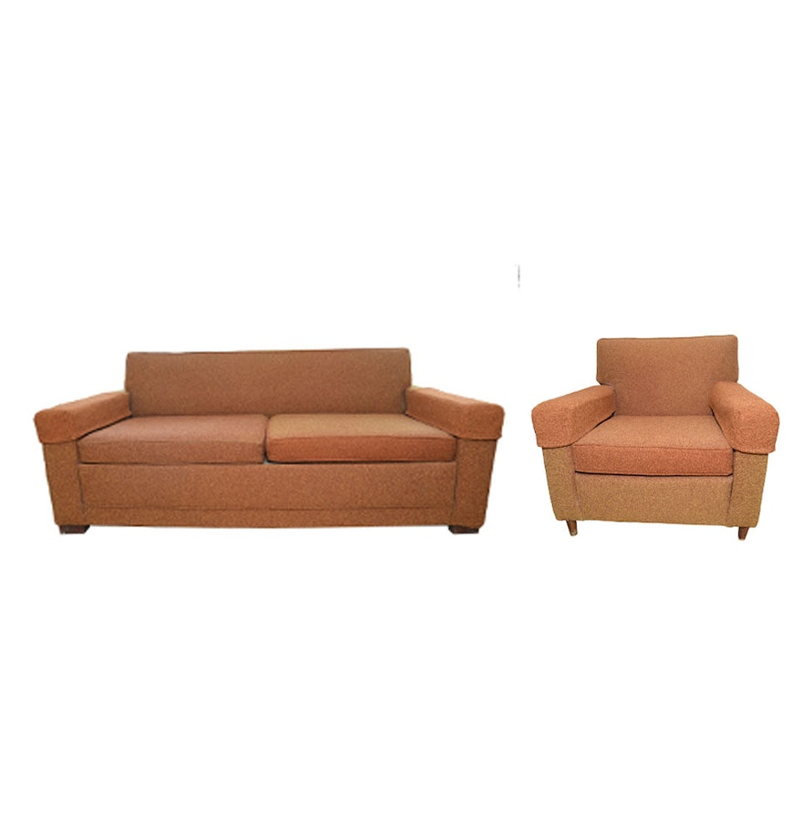 Mid Century Modern Sleeper Sofa and Chair by Castro Convertibles