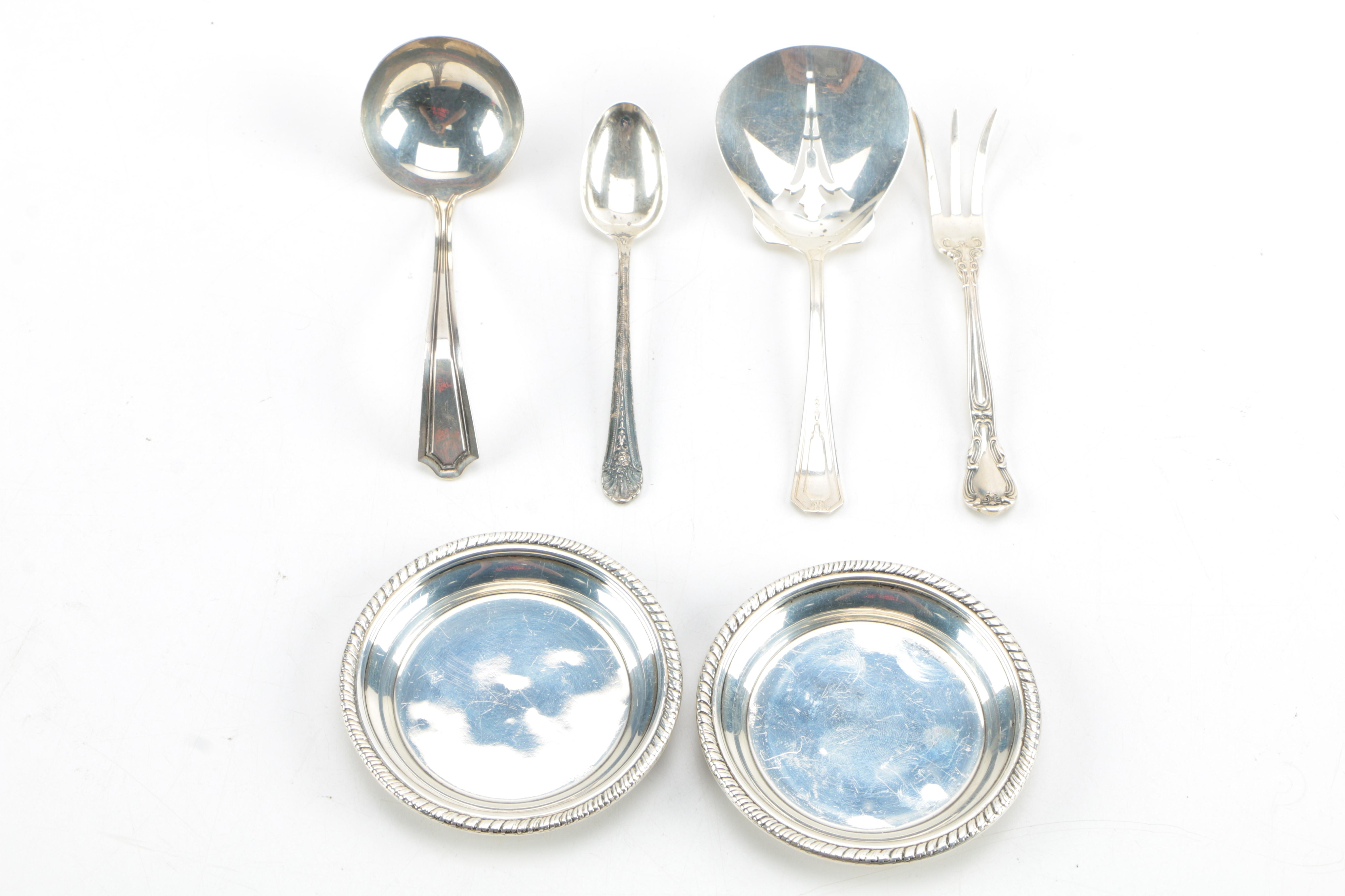 Sterling Silver Serving Utensils and Dishes Featuring Towle