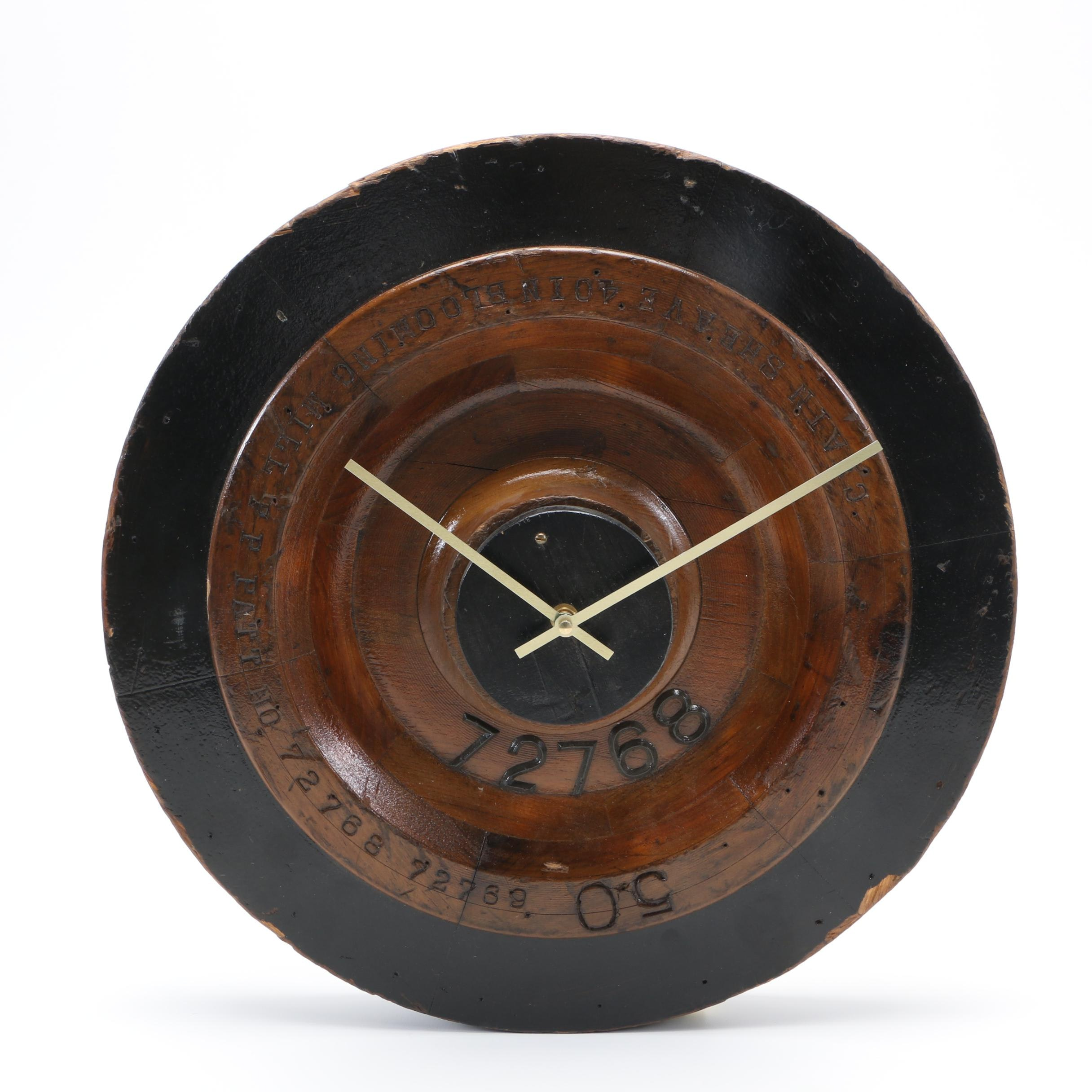 Re-purposed Vintage Foundry Mold Wall Clock by Joseph Hensel