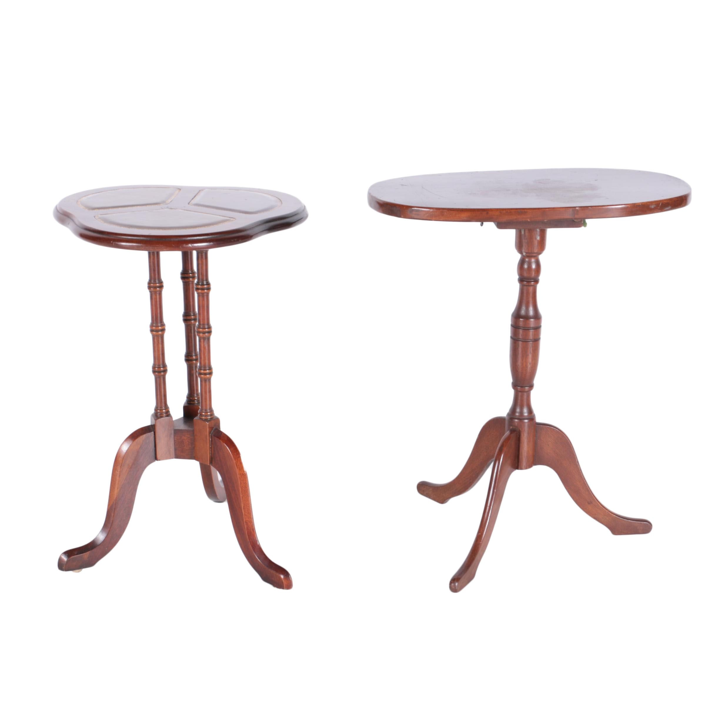 Pair Of Vintage Mahogany Accent Tables