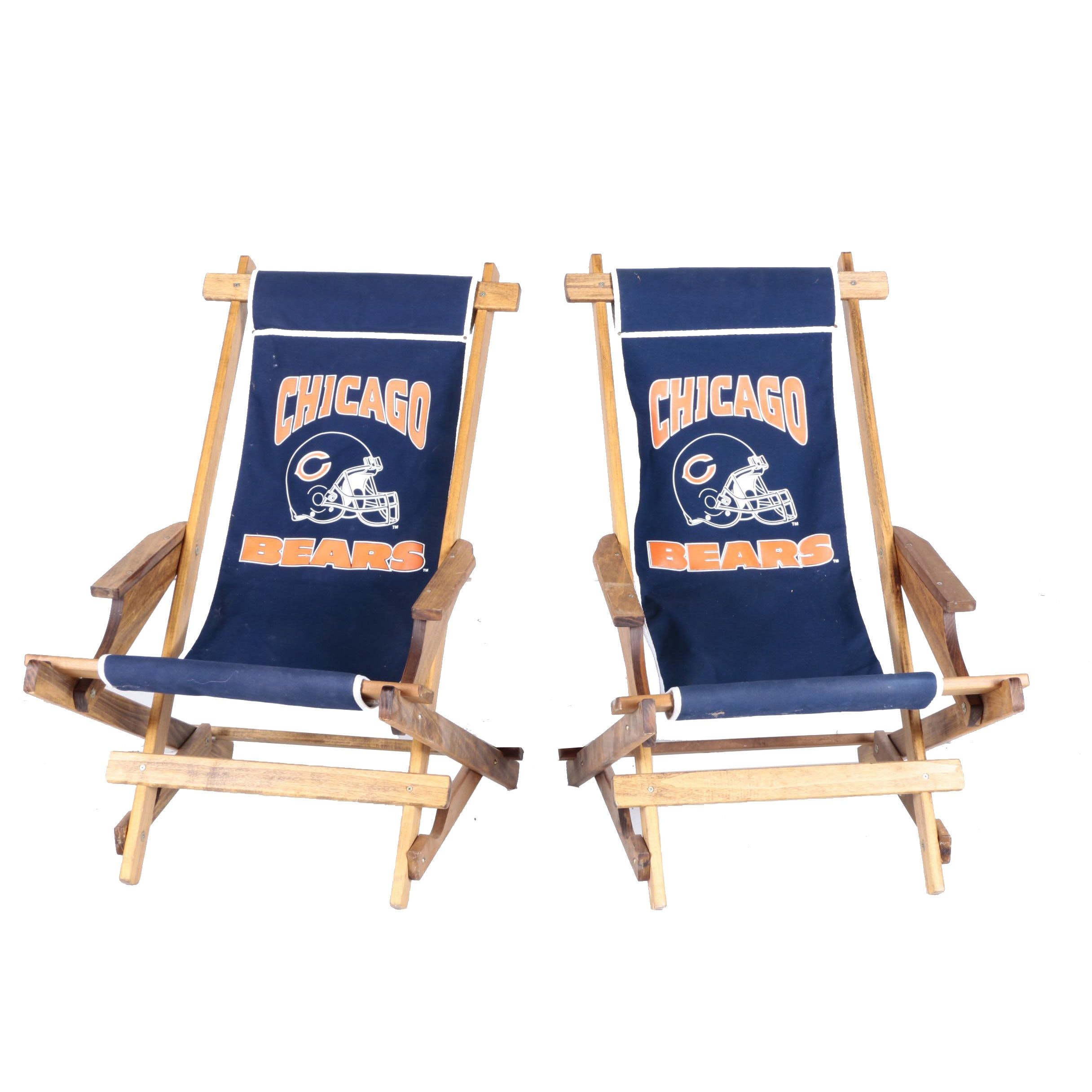 Pair of Chicago Bears Lounge Chairs