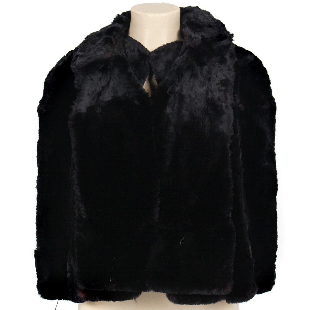 Vintage Sheared Dyed Beaver Cape with Collar
