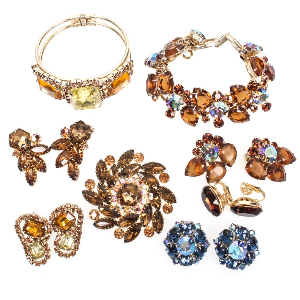 Vintage Rhinestone Jewelry Selection