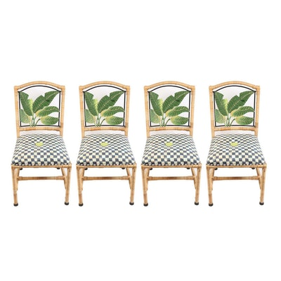 MacKenzie-Childs Upholstered Dining Chairs
