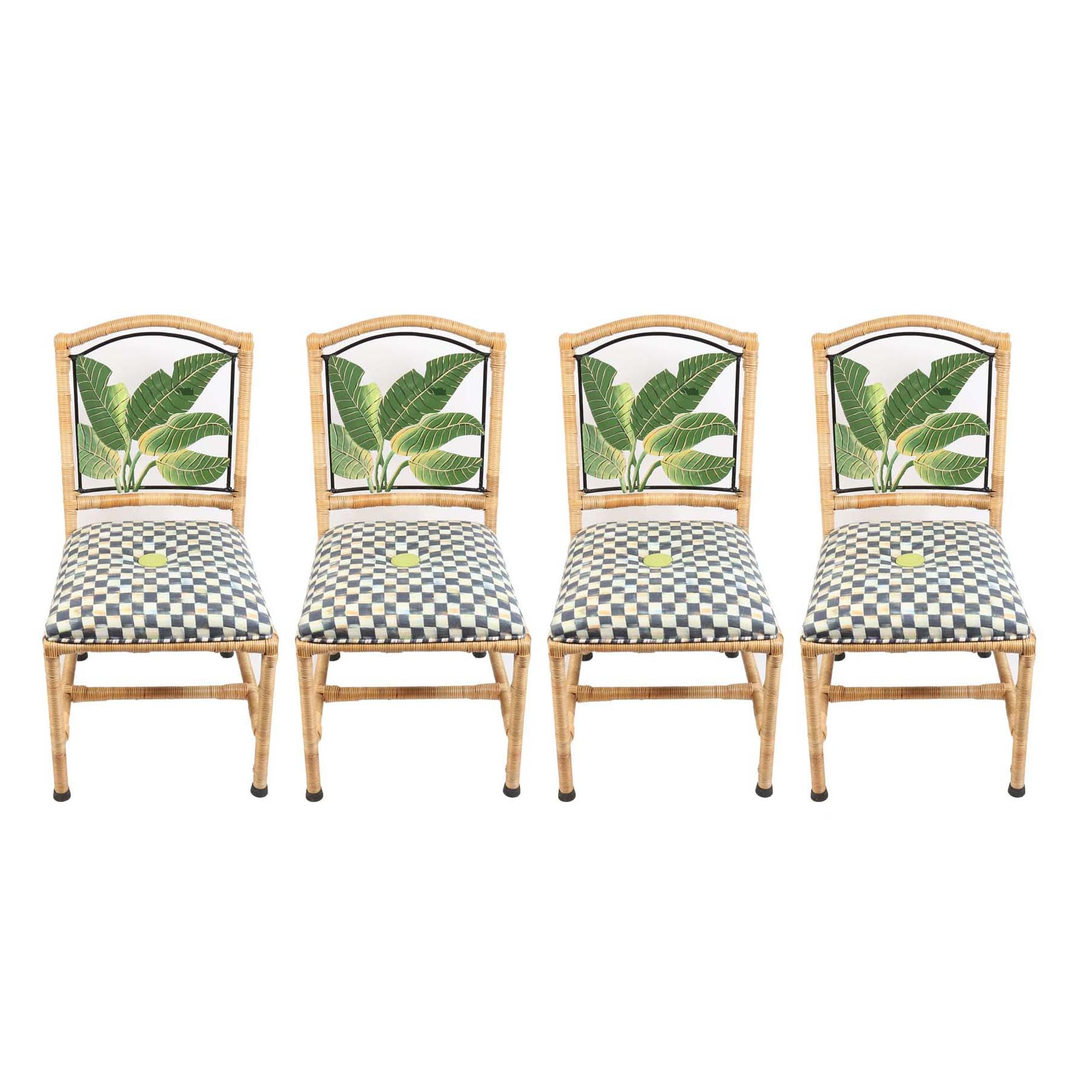 MacKenzie-Childs Upholstered Dining Chairs ...  sc 1 st  EBTH.com & MacKenzie-Childs Upholstered Dining Chairs : EBTH