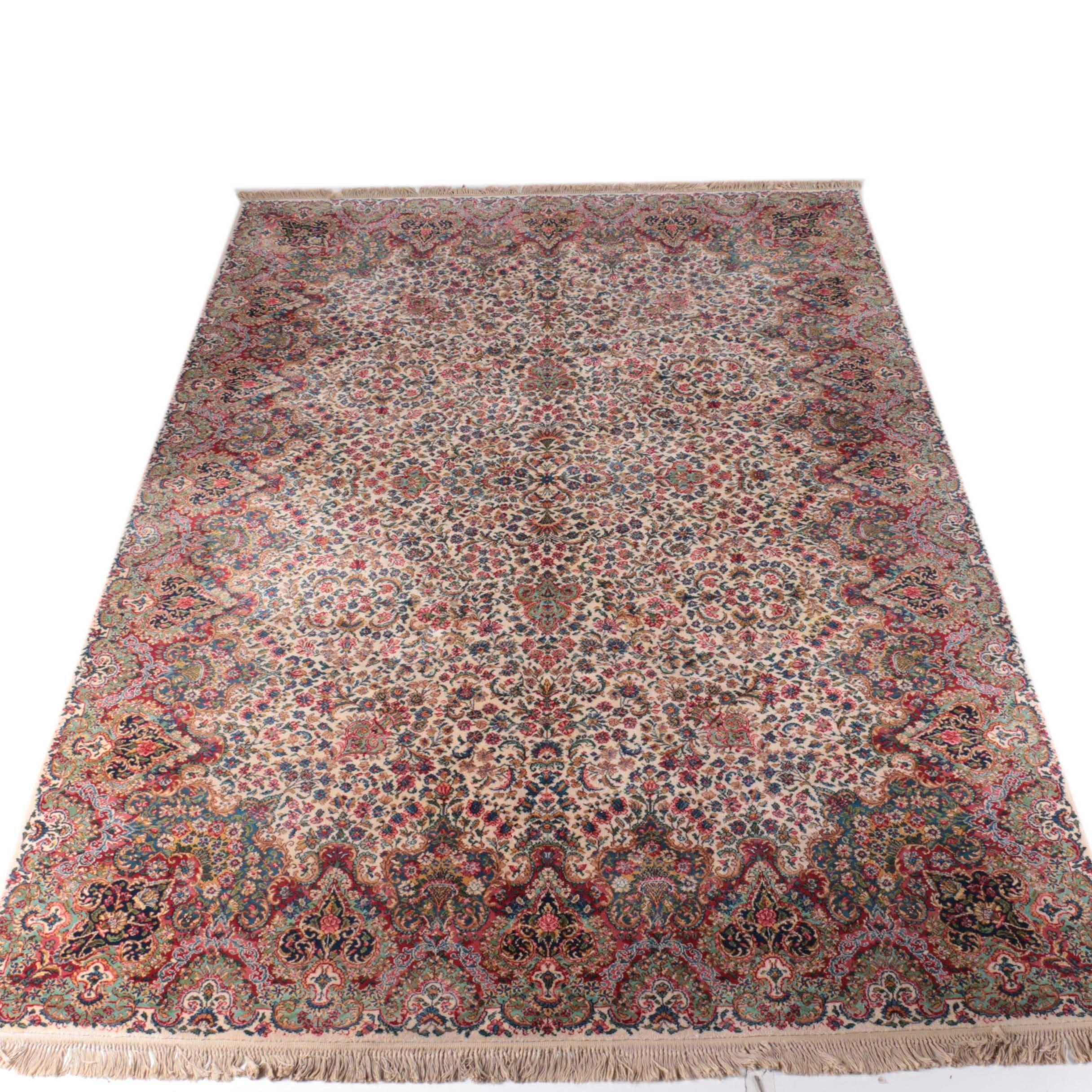 "Large Power-Loomed Karastan ""Kirman"" Wool Area Rug"