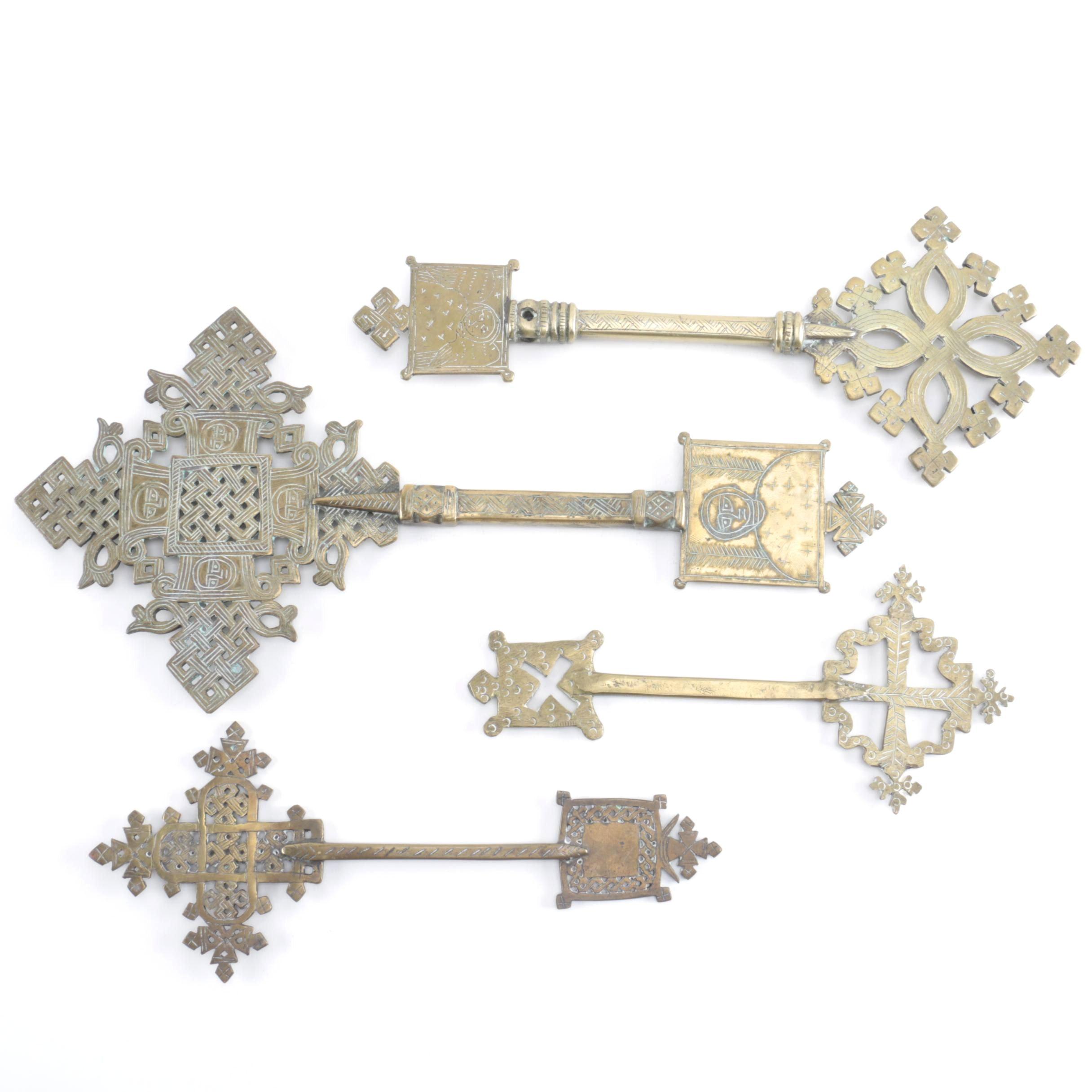 Assortment of Coptic Christian Blessing Crosses