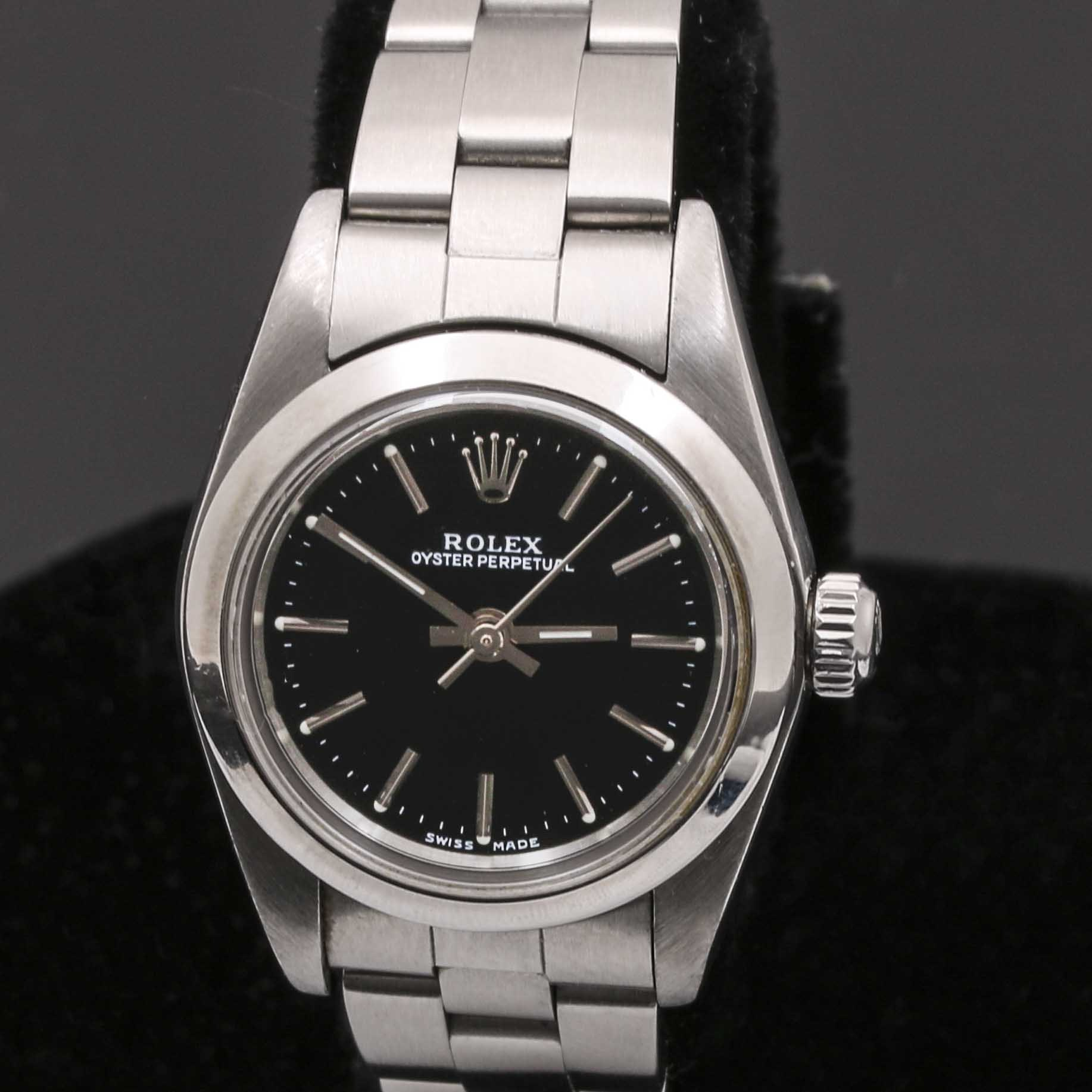 Stainless Steel Rolex Oyster Perpetual Wristwatch