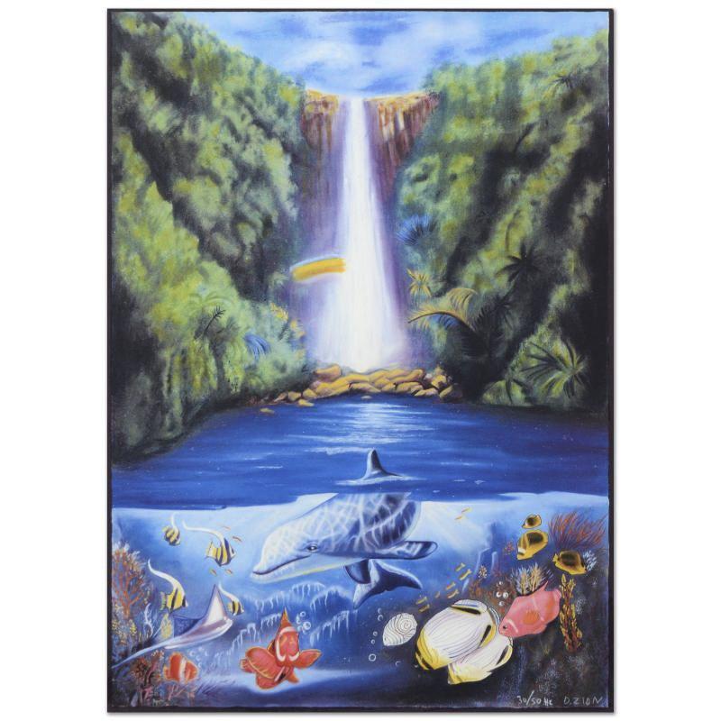 "David Zion Limited Edition Mixed Media ""Rain Fall"""