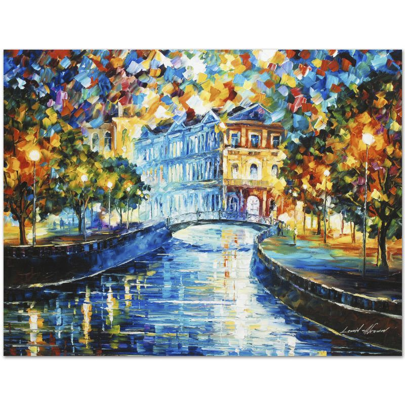 "Leonid Afremov Limited Edition Giclee on Canvas ""House on the Hill"""