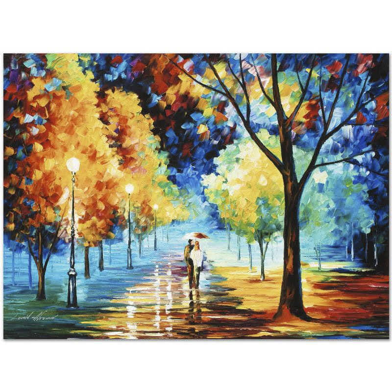 "Leonid Afremov Limited Edition Giclee on Canvas ""Night Alley"""