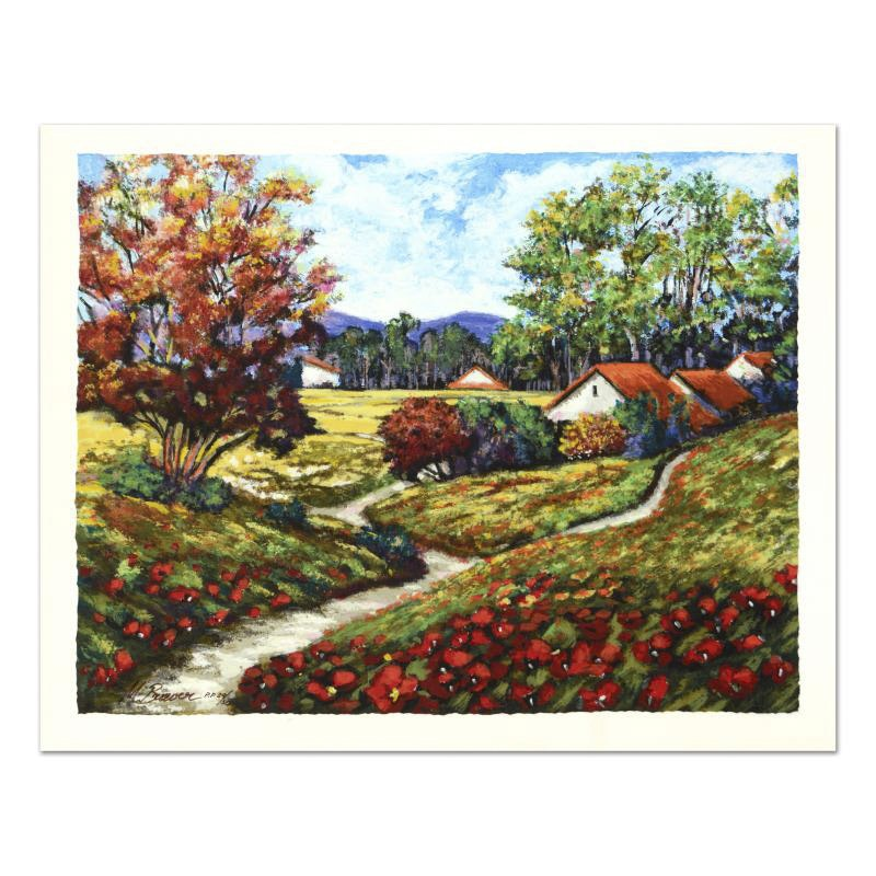 """Mark Braver Limited Edition Serigraph """"Red Poppies"""""""