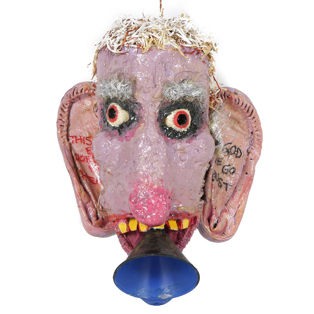 "Frank Kowing Mixed Media Sculpture ""This Ear Does Not Hear..."""