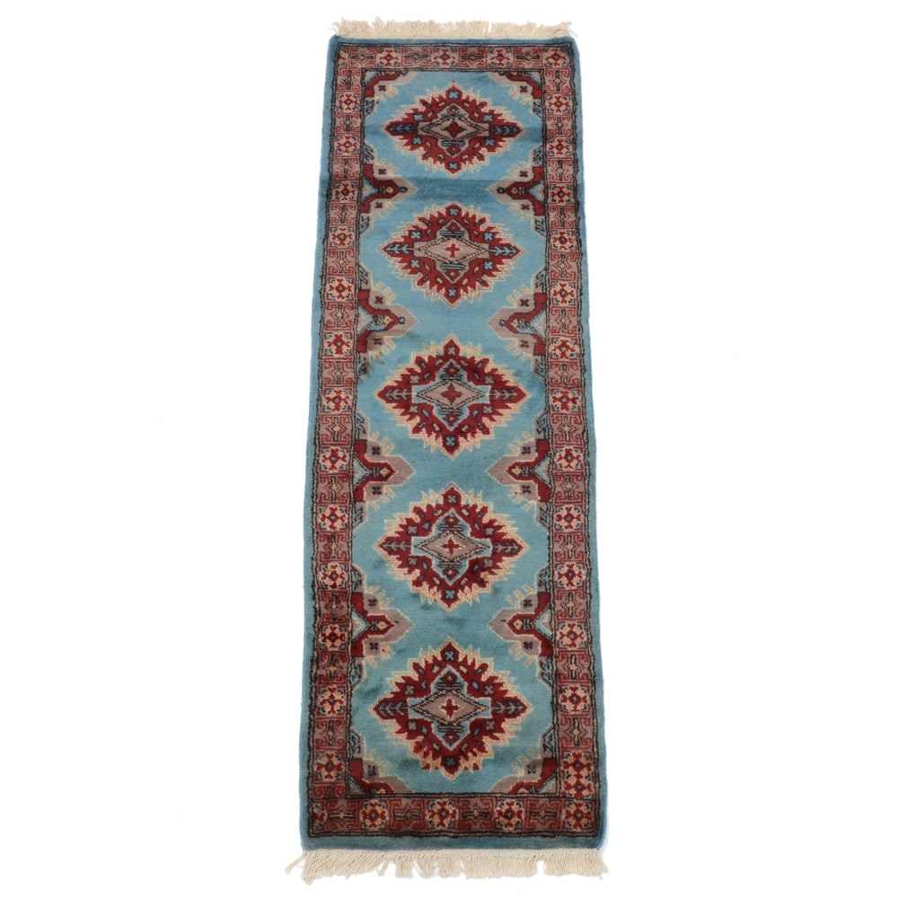 Persian Hand-Knotted Bokhara Wool Runner Rug