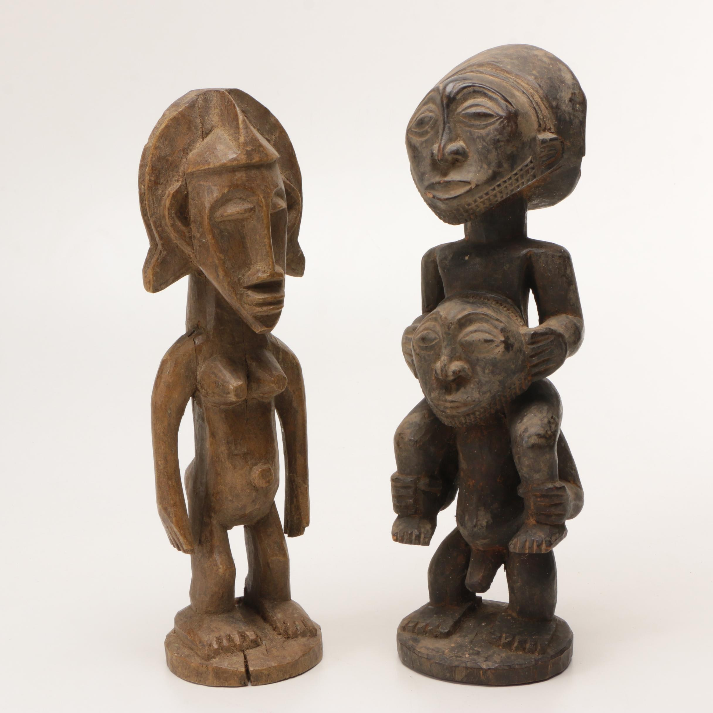 Carved Wood Figures From Congo