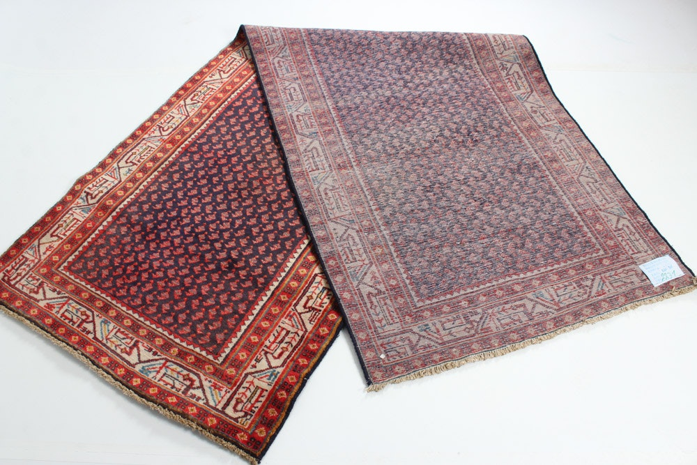Hand Knotted Semi Antique Persian Boteh Mir A Boteh
