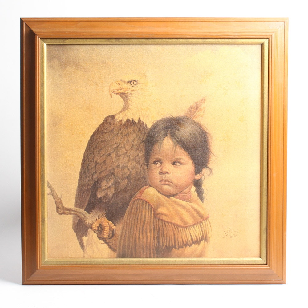 """Gregory Perillo """"Brave & Free"""" Offset Lithograph on Canvas"""