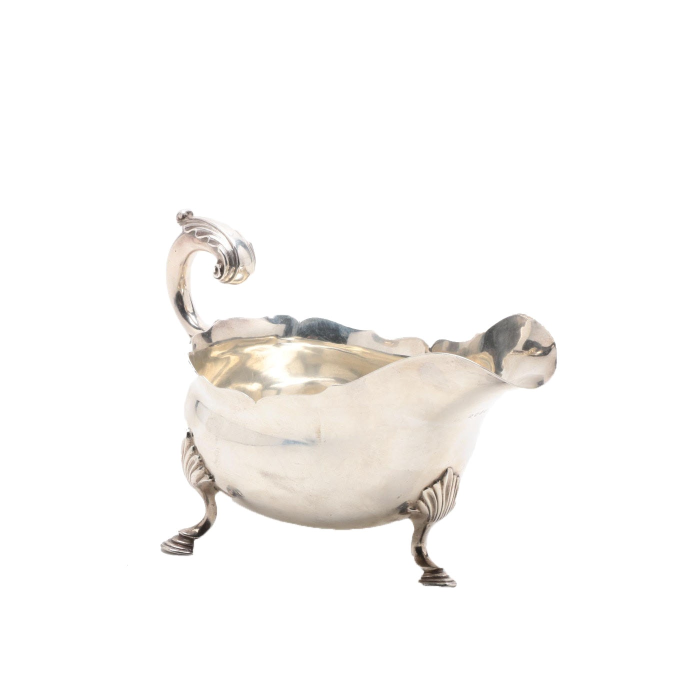 George III English Sterling Silver Sauce Boat