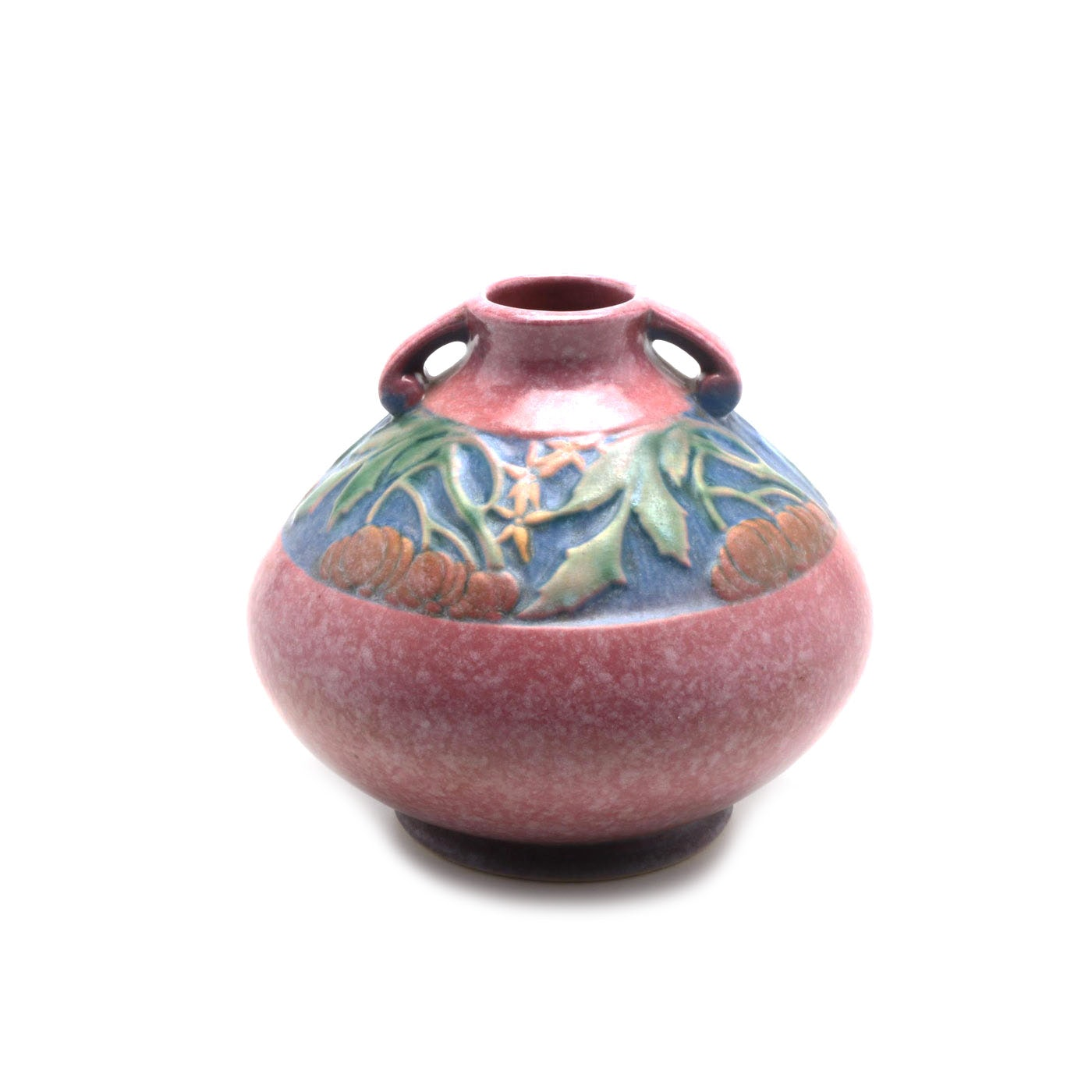 "Early 20th Century Roseville ""Baneda"" Pink Pottery Vase"