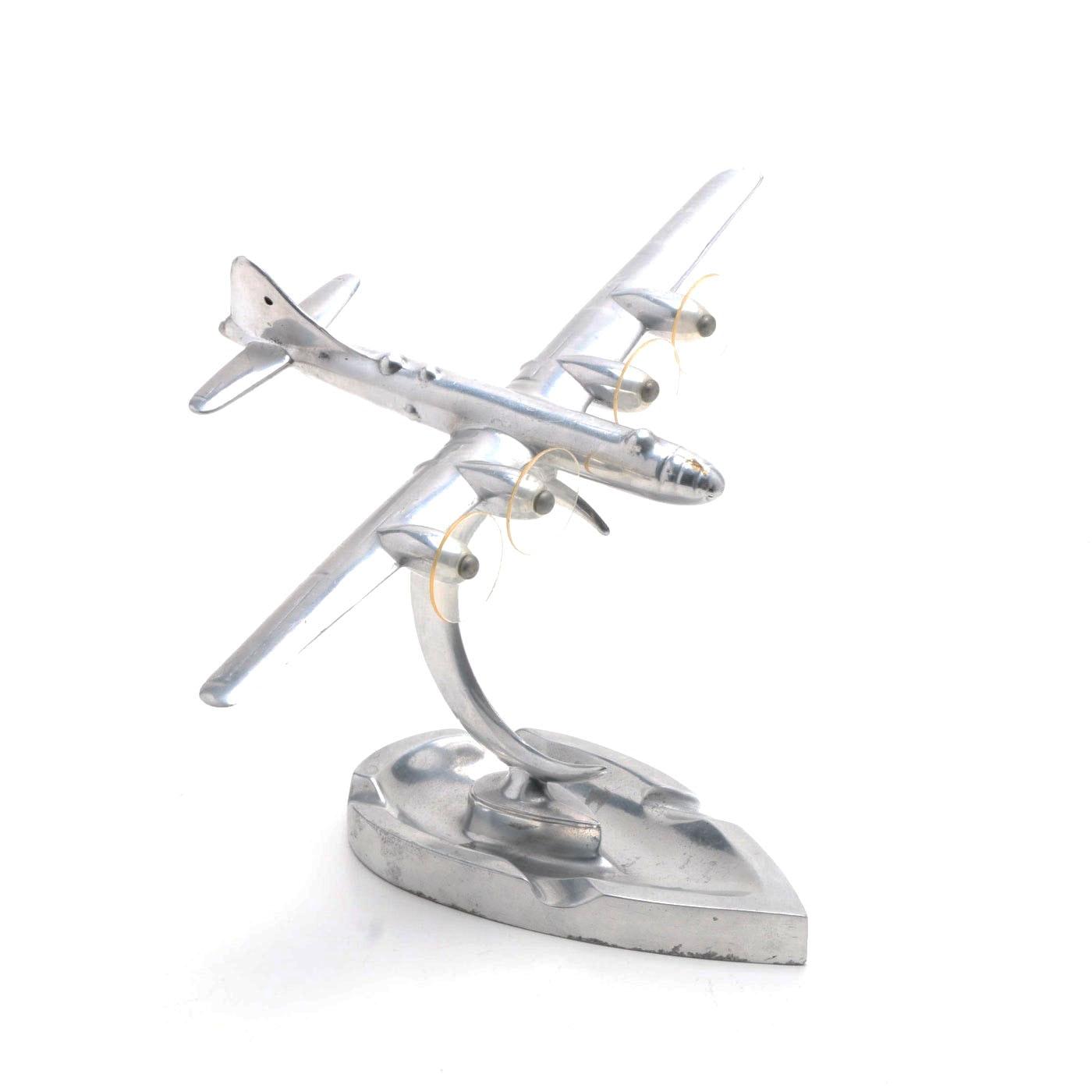 Mid-Century Modern Chrome B-29 Airplane Ash Tray