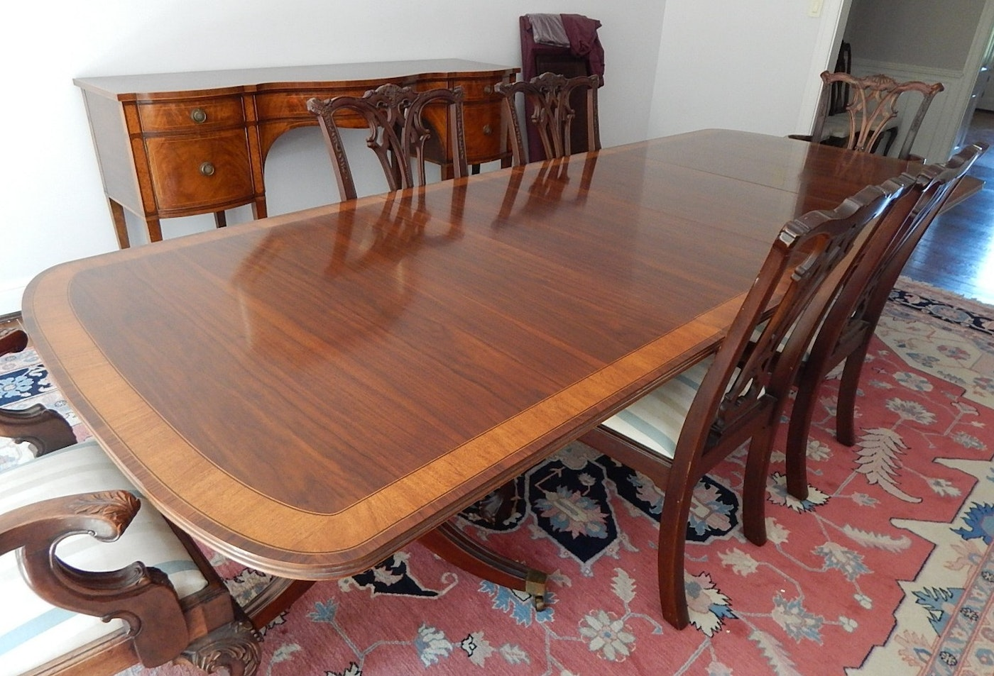 Mahogany Dining Table And Six Chairs By White Furniture Co Ebth