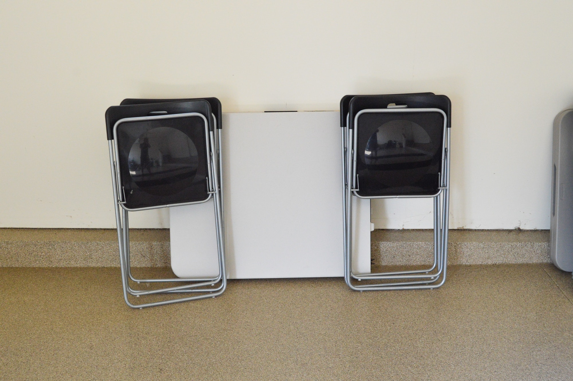 Plastic Folding Table and Ikea Chairs