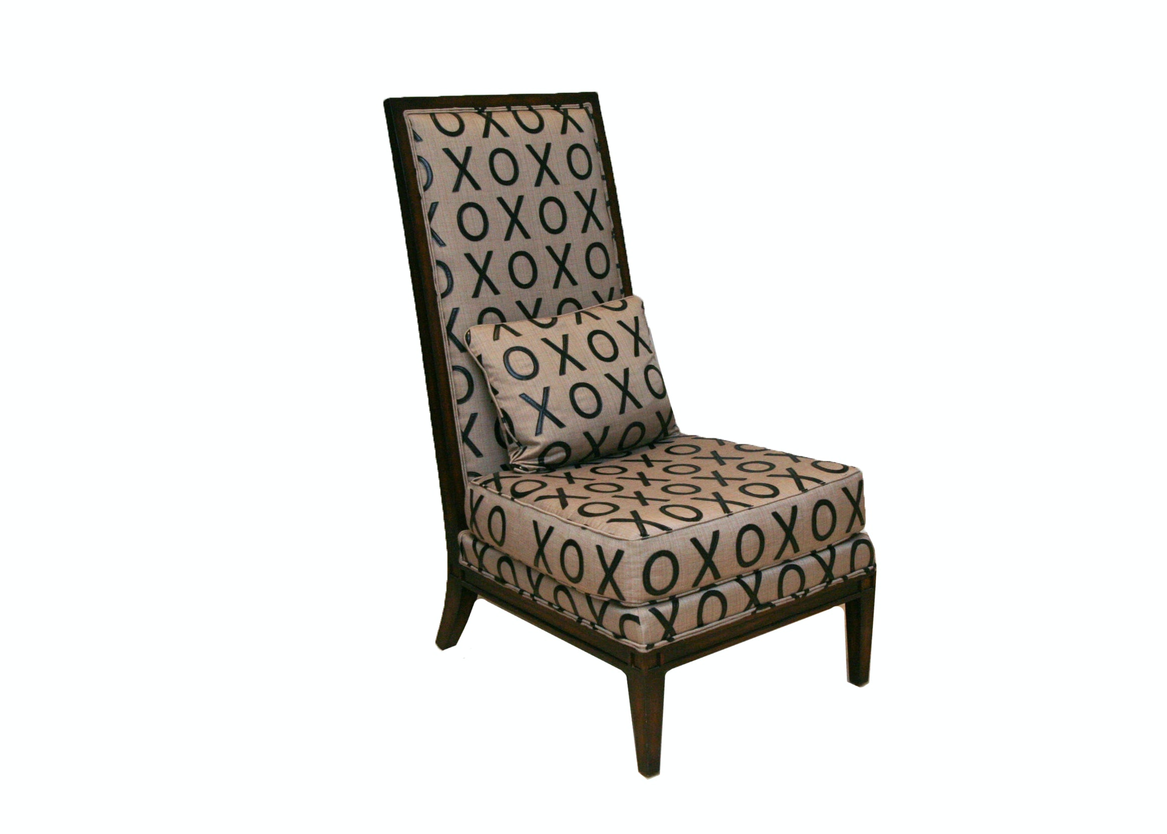 Contemporary Faux Leather XOXO Chair