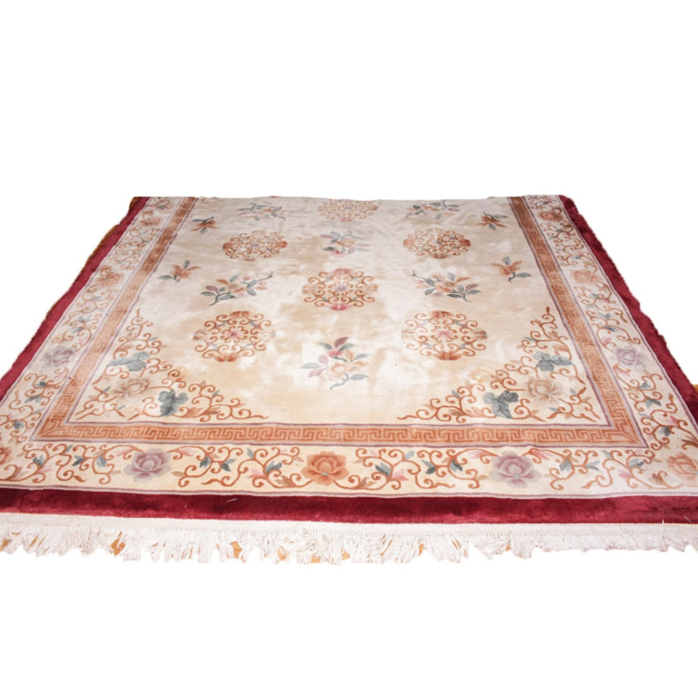 Hand-Knotted Chinese Room Size Rug