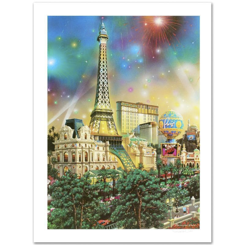 """Paris"" Limited Edition Lithograph by Alexander Chen"