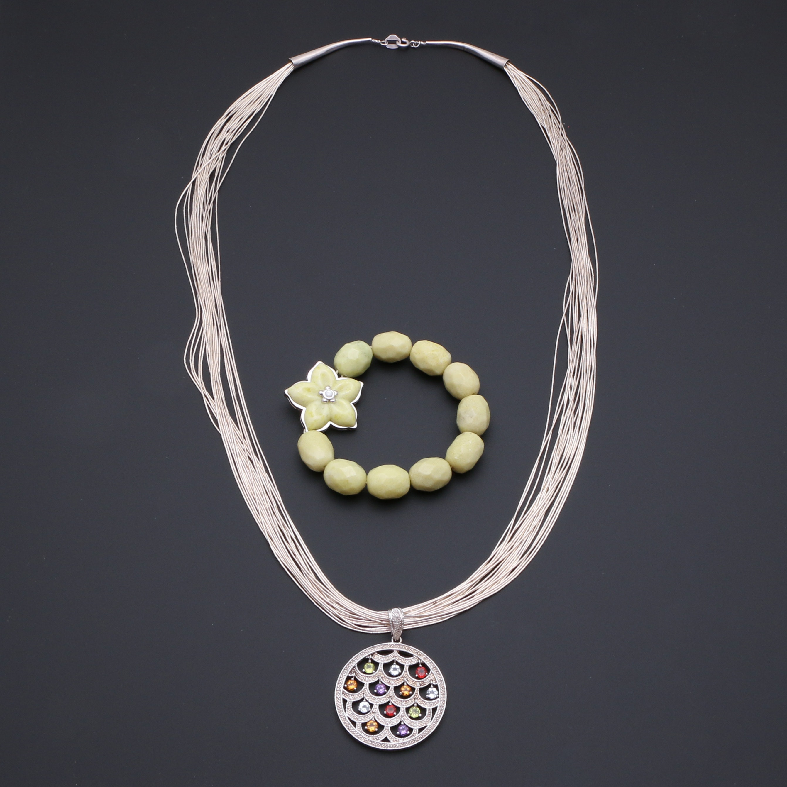 Sterling Silver Jewelry Featuring a Liquid Silver Necklace by Carolyn Pollack