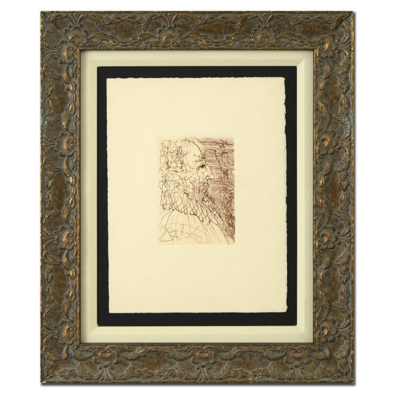 """After Salvador Dali Second Edition Etching on Paper """"El Greco"""""""