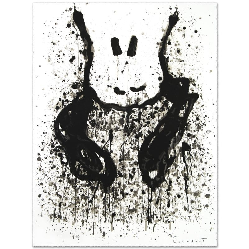 "Tom Everhart Limited Edition Hand Pulled Lithograph ""Watchdog 6 O'Clock"""